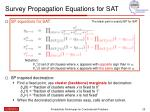 survey propagation equations for sat