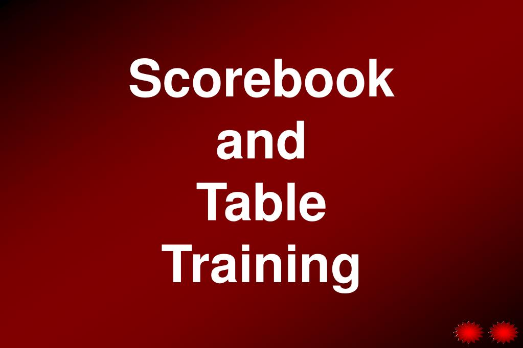 scorebook and table training l.
