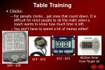 table training42