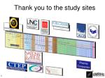 thank you to the study sites