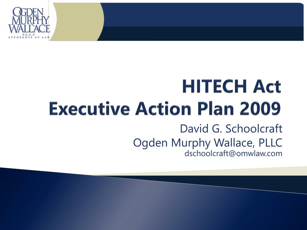 hitech act executive action plan 2009 l.