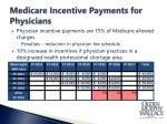 medicare incentive payments for physicians