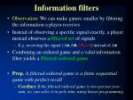 information filters