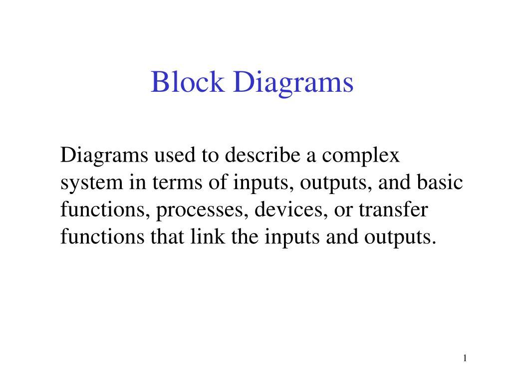 block diagrams l.