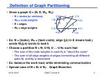 definition of graph partitioning