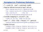 kernighan lin preliminary definitions