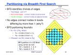 partitioning via breadth first search