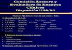 comisi n asesora y evaluadora de ensayos cl nicos disposici n 1138 95
