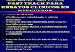 disposici n a n m a t 3436 98 t o 3112 00 fast track para ensayos clinicos en ejecucion