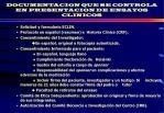 documentacion que se controla en presentacion de ensayos clinicos