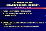 ensayos cl nicos disp 5330 97