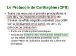 le protocole de carthag ne cpb
