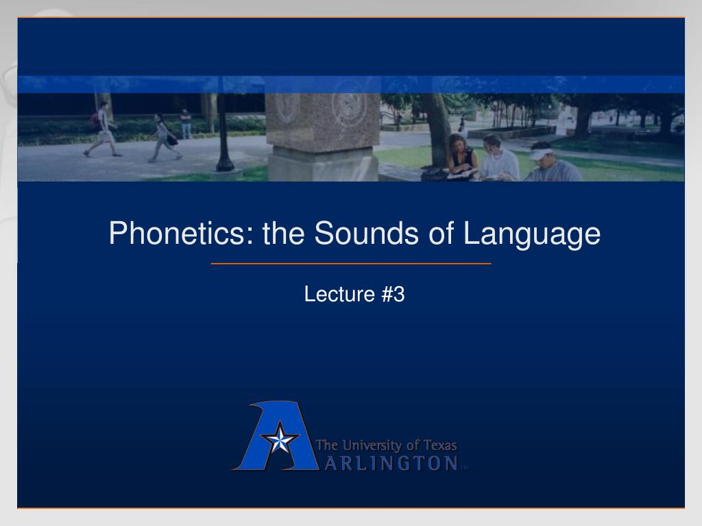 phonetics the sounds of language l.