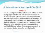 6 c n t bhar is fearr leat c n f th18
