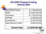 hiv aids program funding kansas 2008