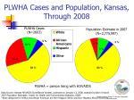 plwha cases and population kansas through 2008