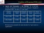 cambios al programa ivm cont17