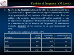 cambios al programa ivm cont19