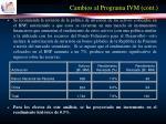 cambios al programa ivm cont20