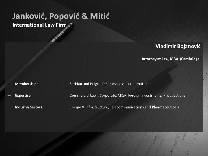 Jankovi popovi miti international law firm
