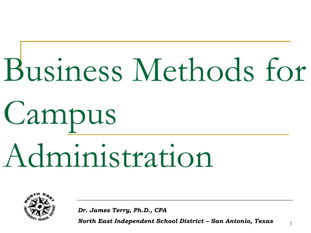 business methods for campus administration l.
