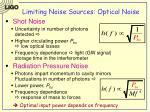 limiting noise sources optical noise