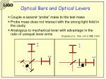 optical bars and optical levers