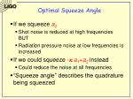 optimal squeeze angle