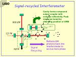 signal recycled interferometer