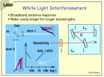 white light interferometers