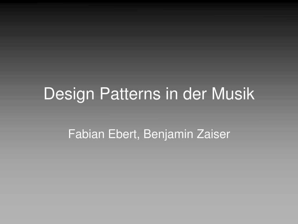 design patterns in der musik l.