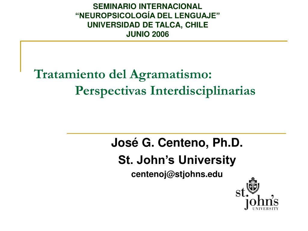 tratamiento del agramatismo perspectivas interdisciplinarias l.