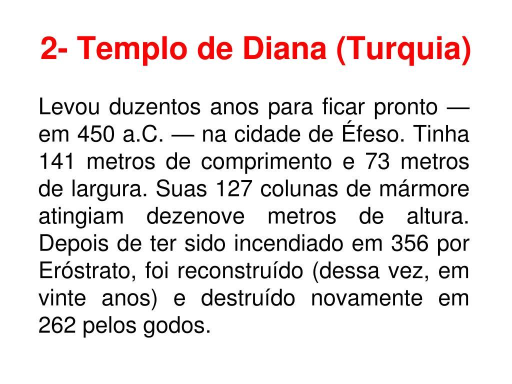 2- Templo de Diana (Turquia)