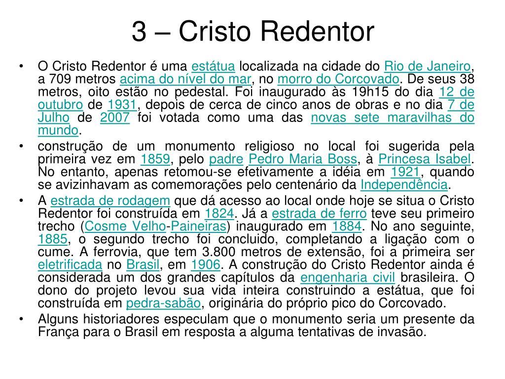 3 – Cristo Redentor