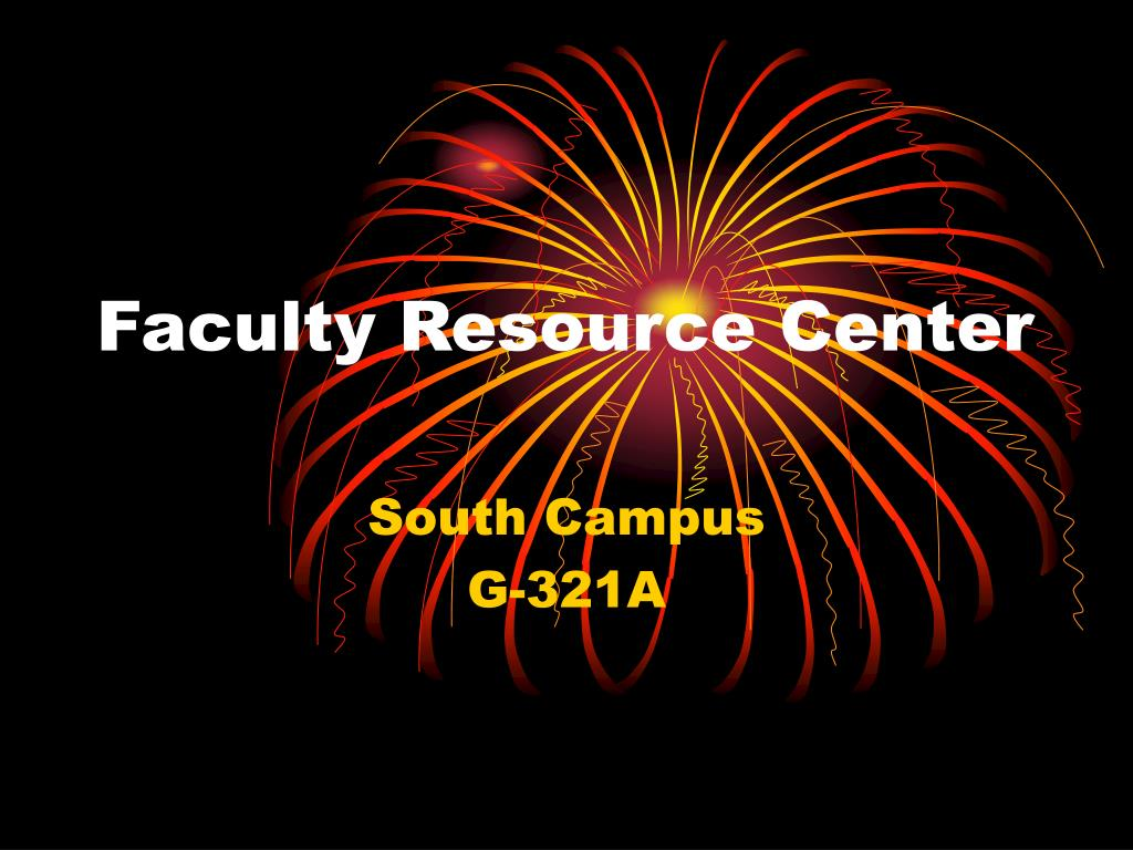 faculty resource center l.
