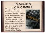 the compound by s a bodeen