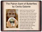 the patron saint of butterflies by ceclia galante