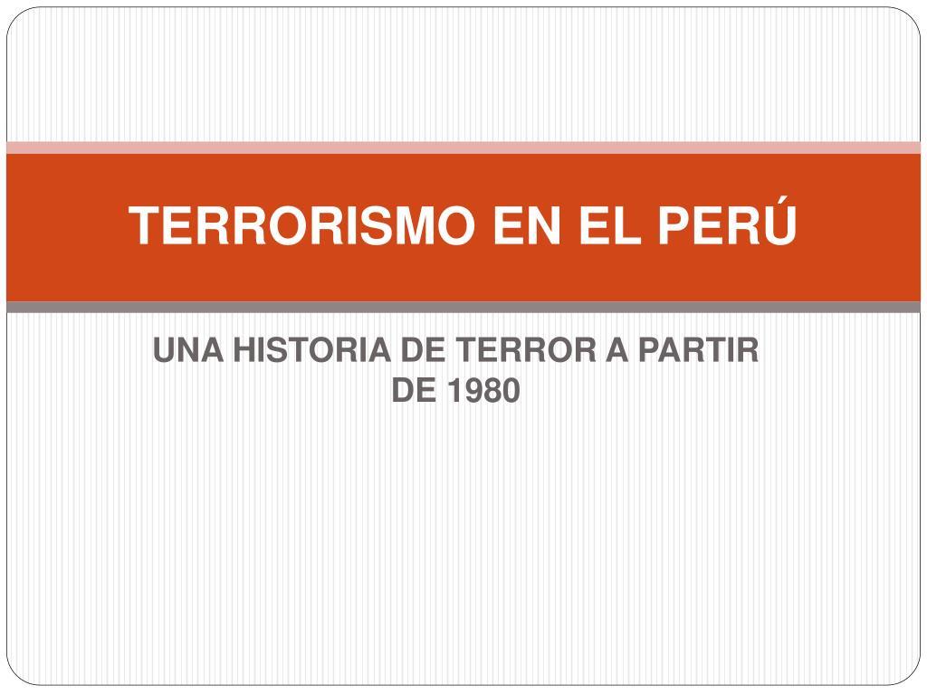 terrorismo en el per l.