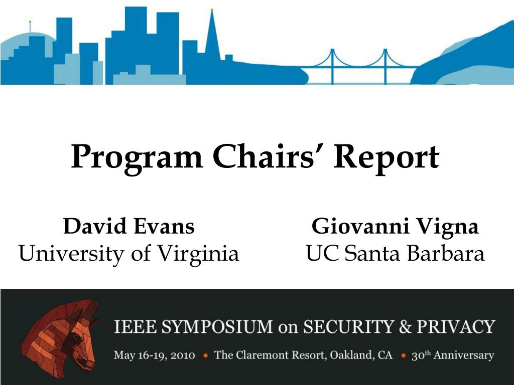 program chairs report l.