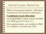 harloff capital harloff inc