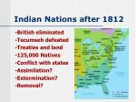 indian nations after 1812