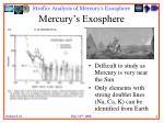mercury s exosphere