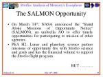 the salmon opportunity