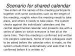 scenario for shared calendar
