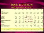 supply utilization milk equivalent fat basis19