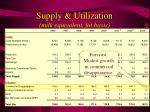 supply utilization milk equivalent fat basis21