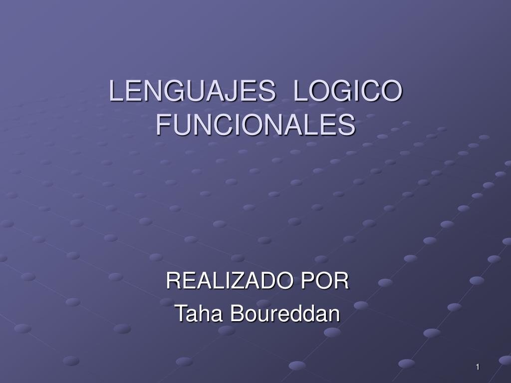 lenguajes logico funcionales l.