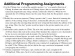 additional programming assignments
