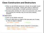class constructors and destructors11