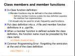 class members and member functions8